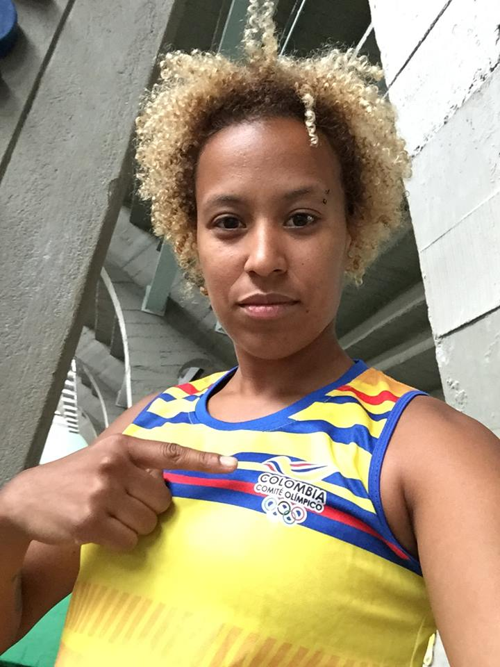 Nathalie Marchino in her Colombia swag!