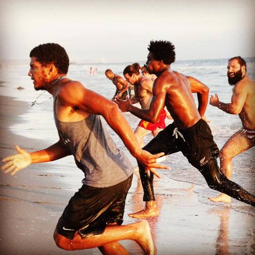 Training session at Santa Monica Beach