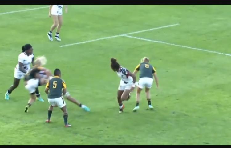 Nana Fa'avesi wrecks the attacker in this photo (that blur is her).