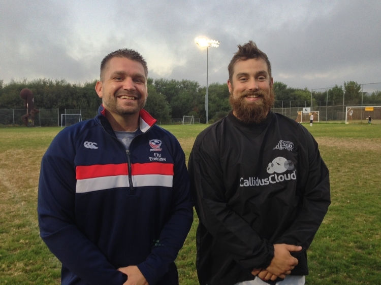 Alex Houser (L) and Jacob Nelson (R) as All Blues WPL Coaches in 2014