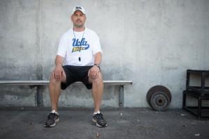 Bruins' Head Coach Scott Stewart.