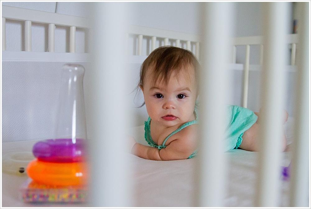 baby in crib | lifestyle family photography in Cedar Park, Texas | Jason & Melaina Photography