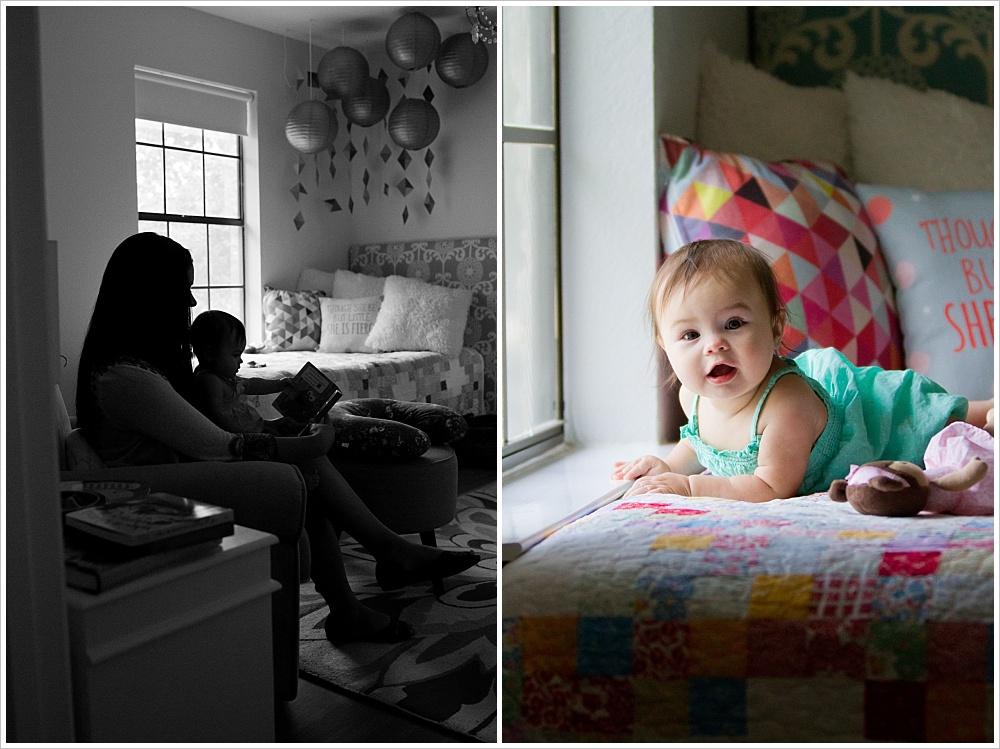 mom reads to baby | lifestyle family photography in Cedar Park, Texas | Jason & Melaina Photography