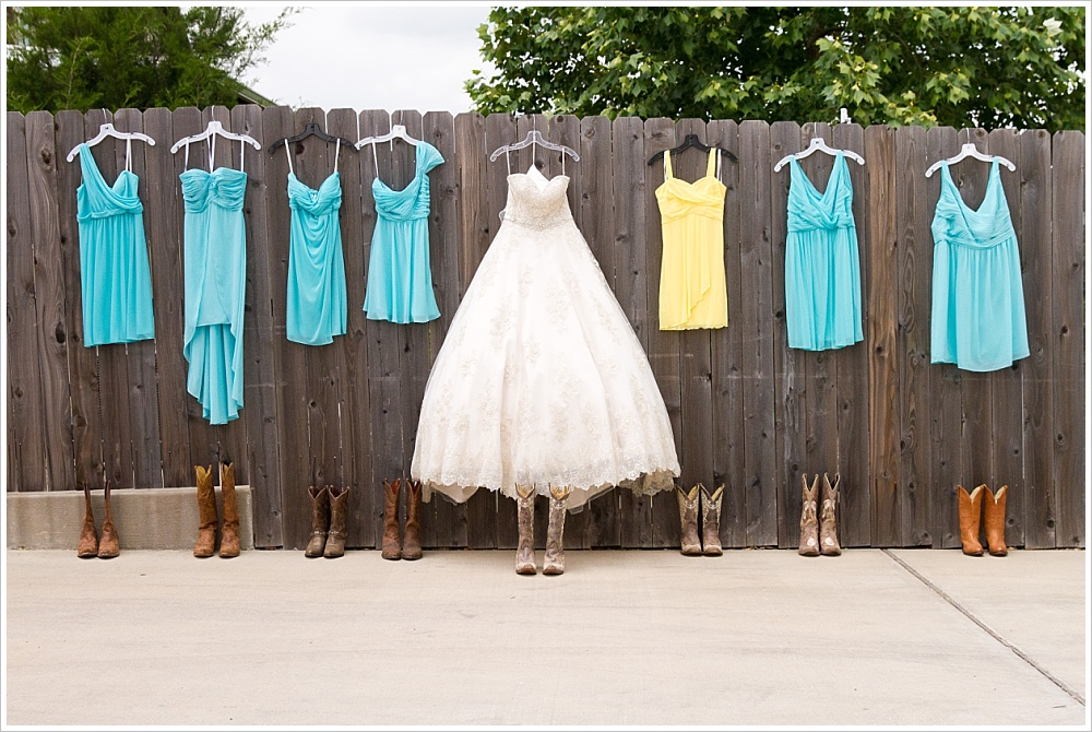 bridesmaids dresses and bridal gown | Carleen Bright Arboretum wedding venue in Woodway, TX | Jason & Melaina Photography