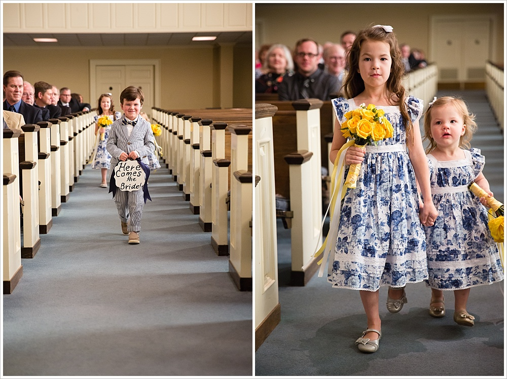 ring bearer and flower girls | Calvary Baptist Church, Waco, TX | Jason & Melaina Photography