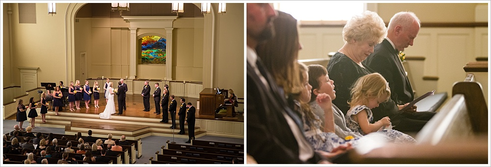 wedding ceremony | Calvary Baptist Church, Waco, TX | Jason & Melaina Photography