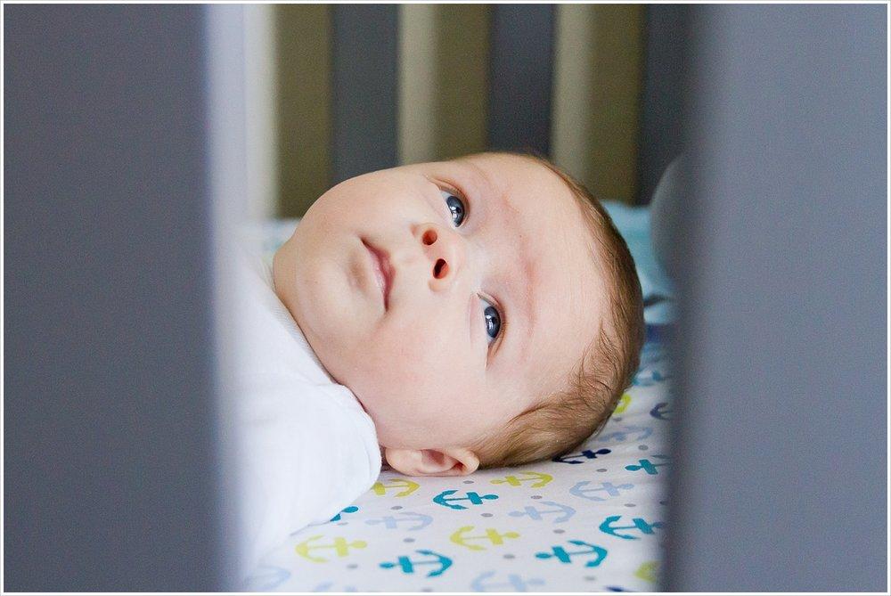 baby boy in crib | lifestyle family photography in Waco, Texas | Jason & Melaina Photography