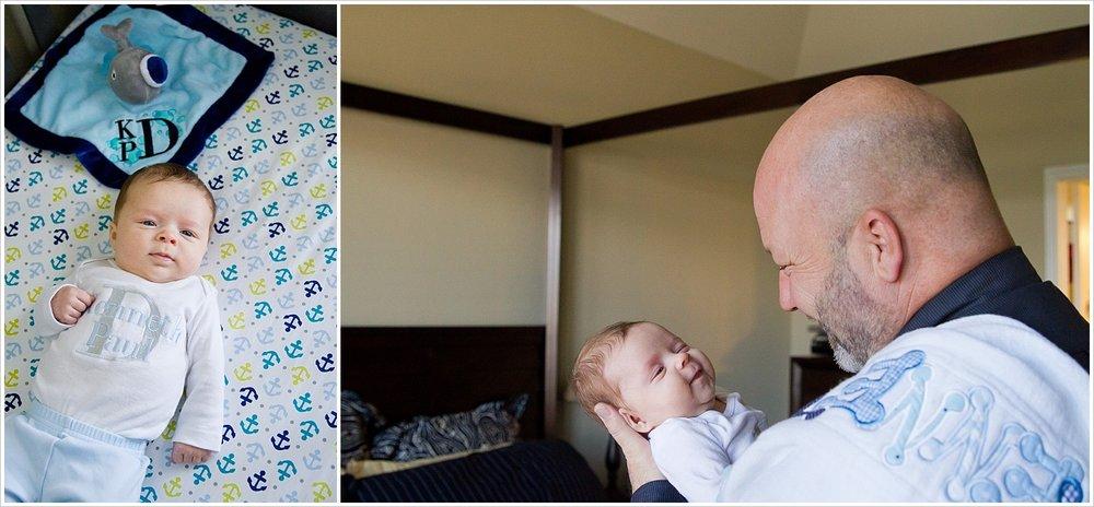 Dad holds baby | lifestyle family photography in Waco, Texas | Jason & Melaina Photography