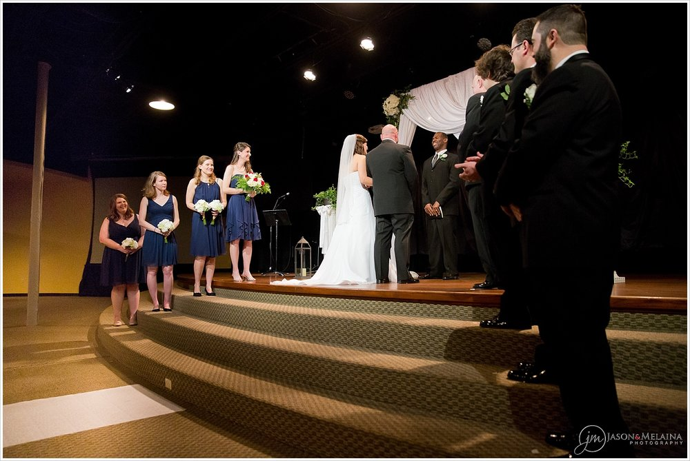 Wedding ceremony at Antioch Community Church in Waco, Texas
