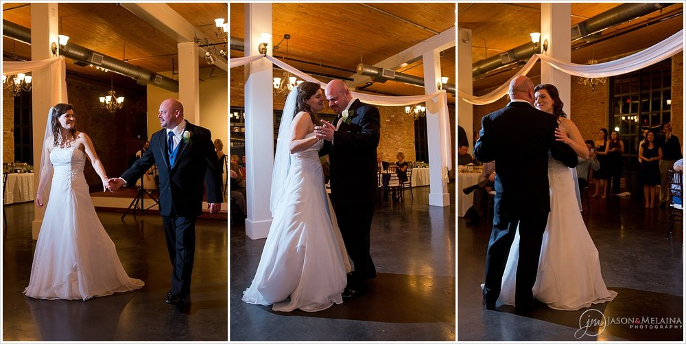 Bride and groom's first dance, The Palladium, Waco, Texas