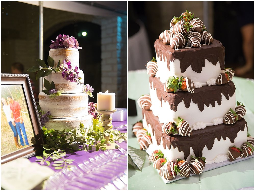 Bride's cake and groom's cake by Simply Sweet Bakery in Little River Academy, Texas
