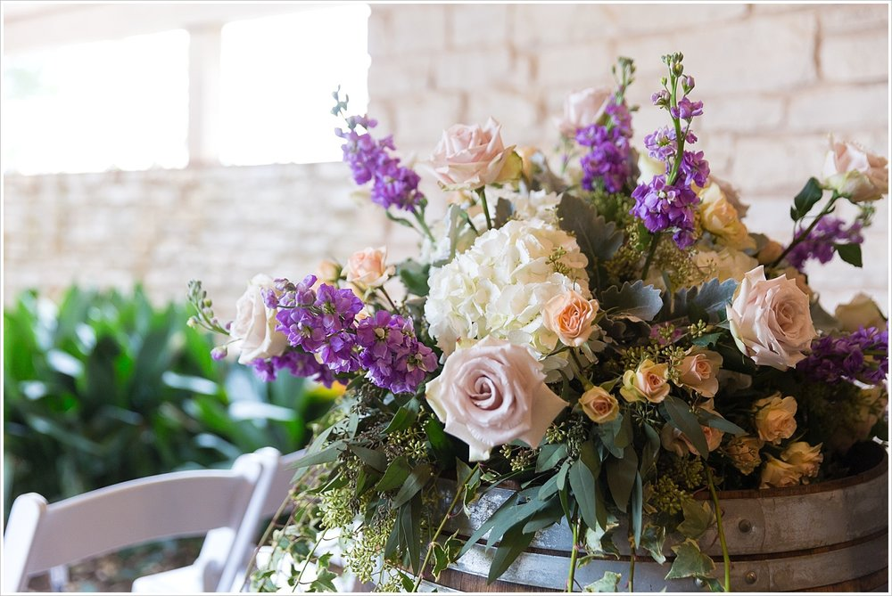 Large floral arrangement for spring wedding decor