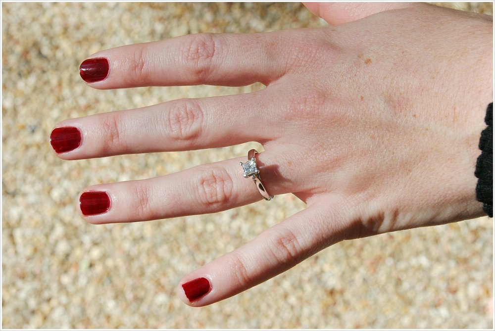 My princess cut diamond solitaire engagement ring