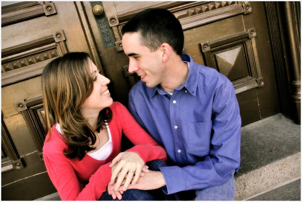 Our engagement portraits from early 2008 with our friend, Lauren Bazan