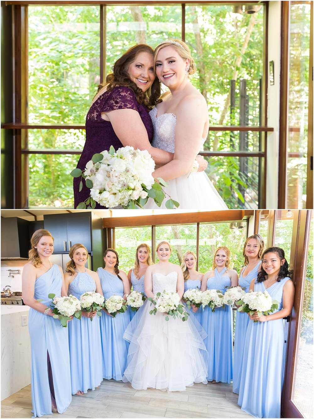 Bridal party at Fixer Upper house in Waco, Texas - www.jasonandmelaina.com