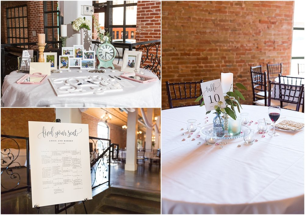 Reception details at Downtown warehouse wedding in Waco, Texas - www.jasonandmelaina.com