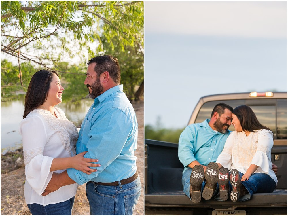 Romantic engagement portraits on a family ranch in Dublin, TX - Jason & Melaina Photography - www.jasonandmelaina.com