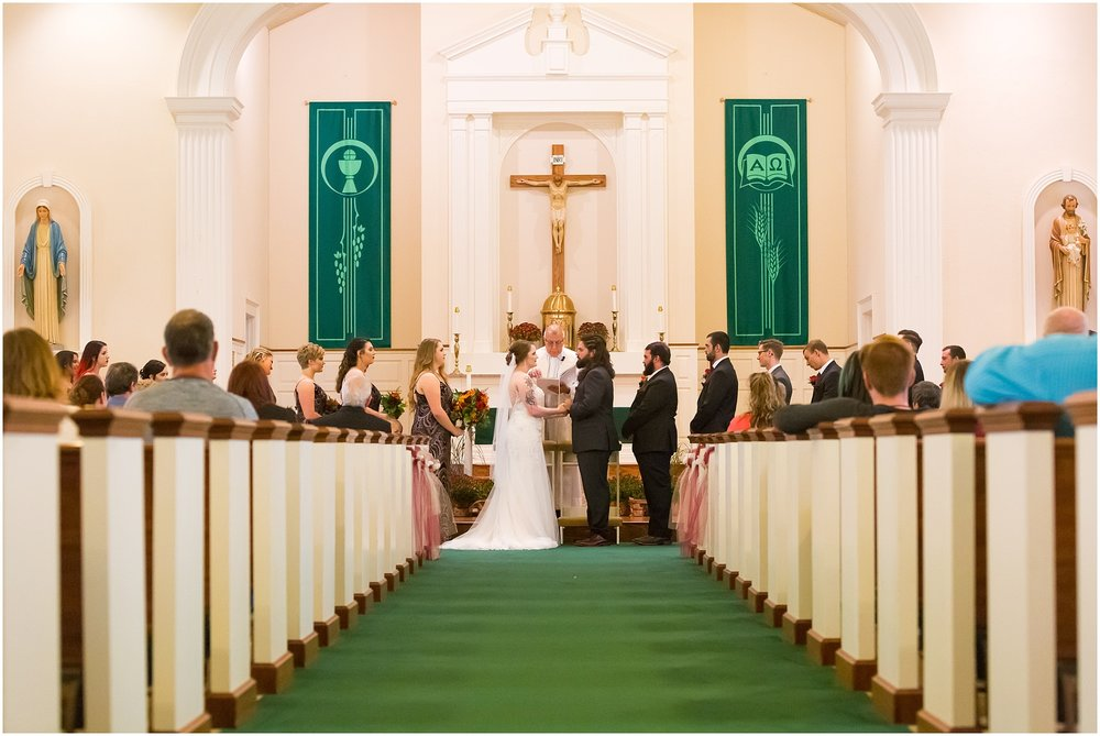 Catholic ceremony at Gothic Fall wedding in Waco, TX - Jason & Melaina Photography - http://jasonandmelaina.com