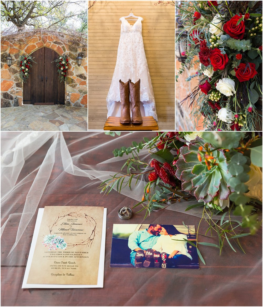 Fall wedding details - - Dove Creek Ranch in Dublin, Texas - Jason & Melaina Photography - www.jasonandmelaina.com
