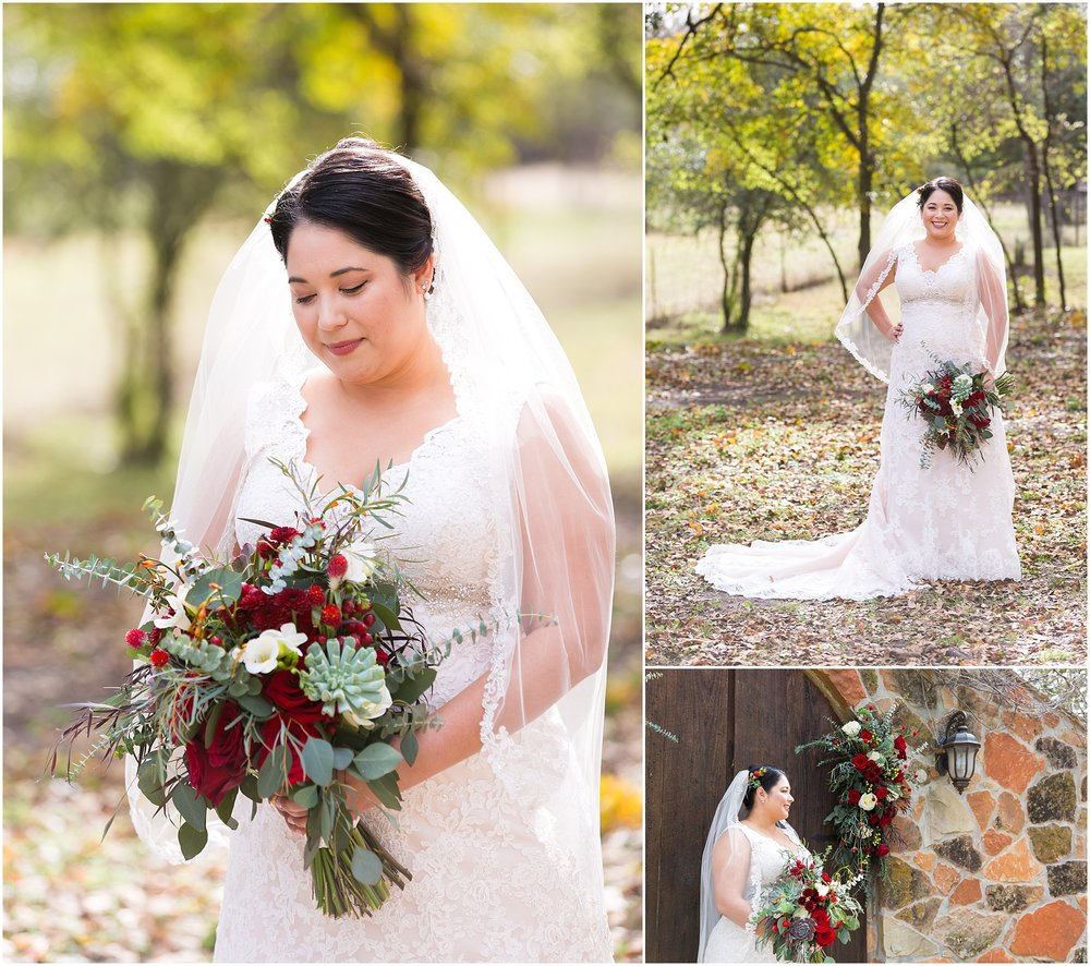 Bridal portraits at Dove Creek Ranch in Dublin, Texas - Jason & Melaina Photography - www.jasonandmelaina.com