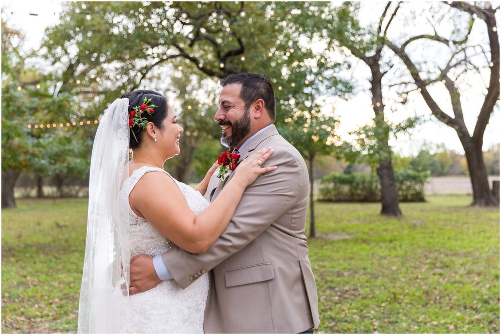 Bride and groom at Dove Creek Ranch in Dublin, Texas - Jason & Melaina Photography - www.jasonandmelaina.com