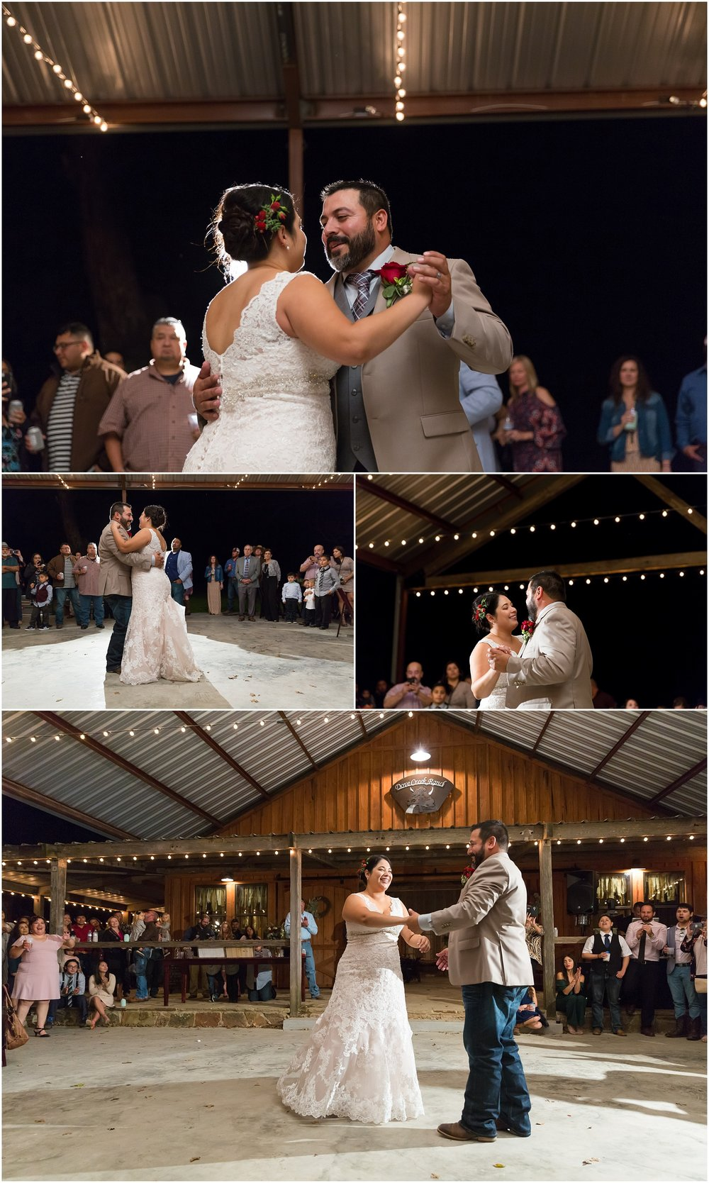 First dance as Mr. and Mrs. - Dove Creek Ranch in Dublin, Texas - Jason & Melaina Photography - www.jasonandmelaina.com