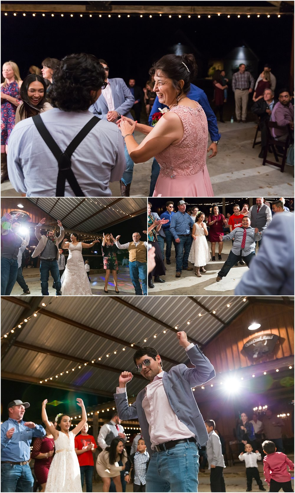 Dance party reception - Dove Creek Ranch in Dublin, Texas - Jason & Melaina Photography - www.jasonandmelaina.com