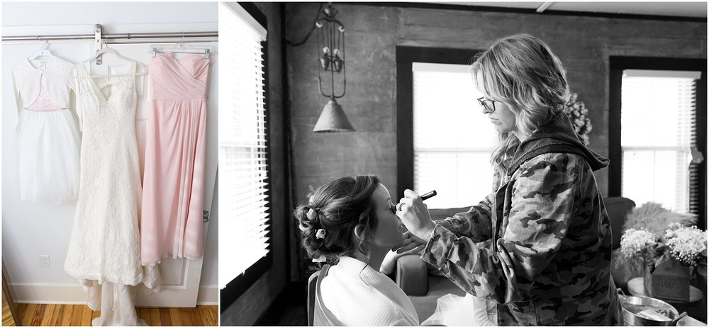 Bride getting ready in Fixer Upper house in Waco, Texas - Jason & Melaina Photography - www.jasonandmelaina.com