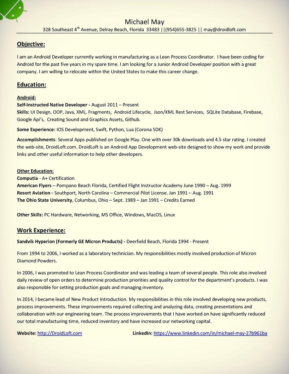Resume Droidloft