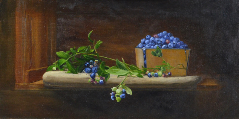 Blue Bounty  by Susan Pragaspathy | 10 x 20 inches | oil on linen | 2017 | Private Collection | Copyright ©2017 Susan Pragaspathy, All Rights Reserved