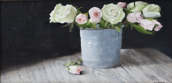 In the Spotlight by Susan Pragaspathy | 10 x 20 inches | oil on linen | 2017 |  Copyright ©2017 Susan Pragaspathy, All Rights Reserved