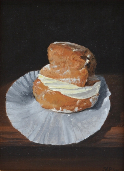 Cream Puff by Susan Pragaspathy | 6 x 8 inches | oil on linen | 2017 |   Copyright ©2017 Susan Pragaspathy, All Rights Reserved