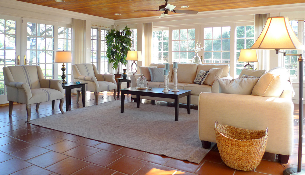 Alexandria Virginia home staging sunroom