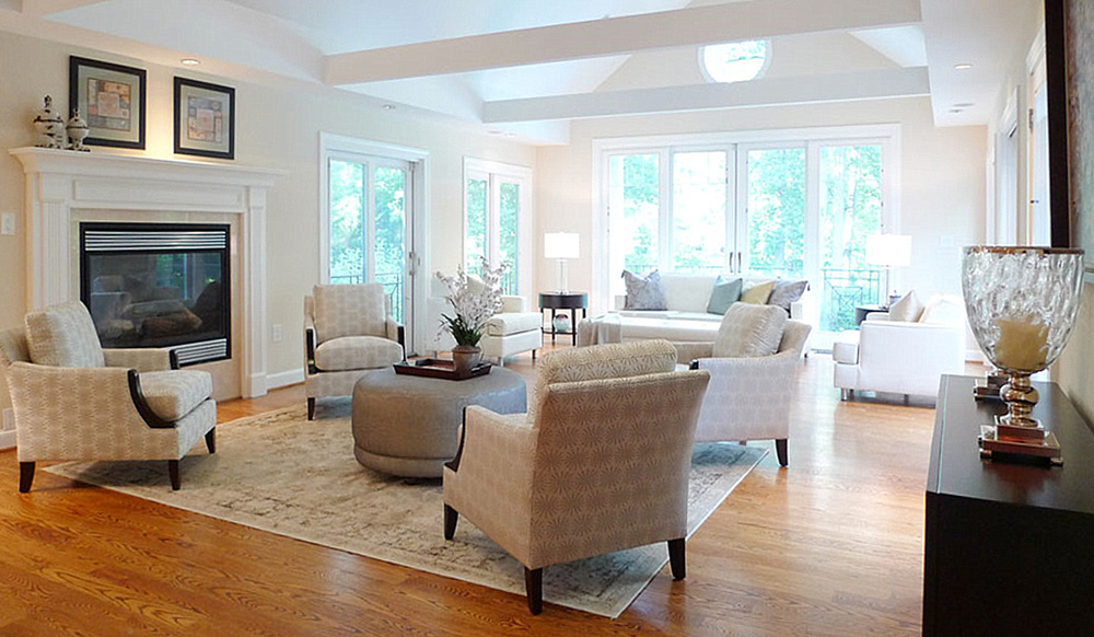 McLean Virginia home staging living room
