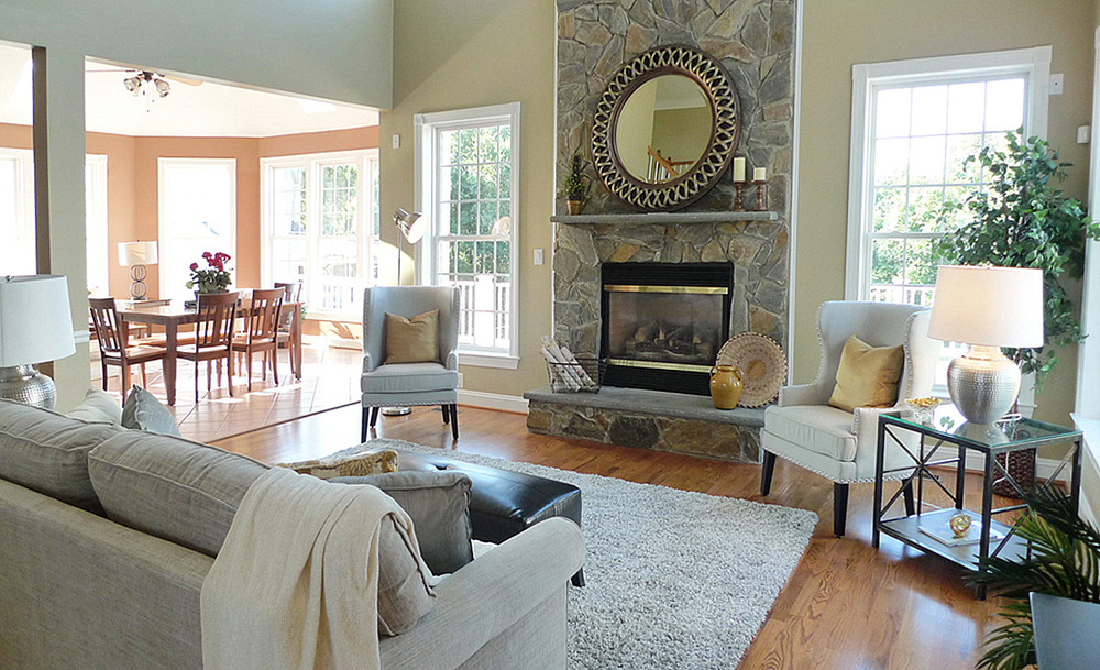 Bethesda Maryland home staging living room