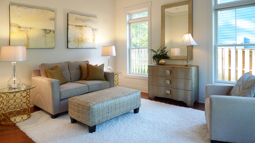 Washington DC home staging requires appropriately scaled furniture