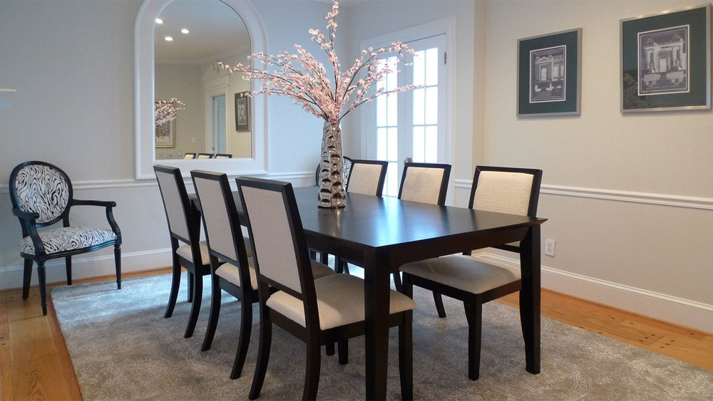 home staging washington dc dinning room