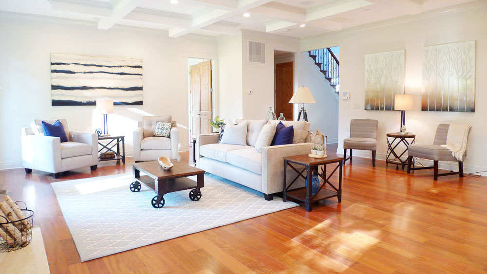 Family Room McLean Virginia Home Staging