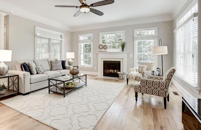 Fairfax Virginia Great Room Home Staging