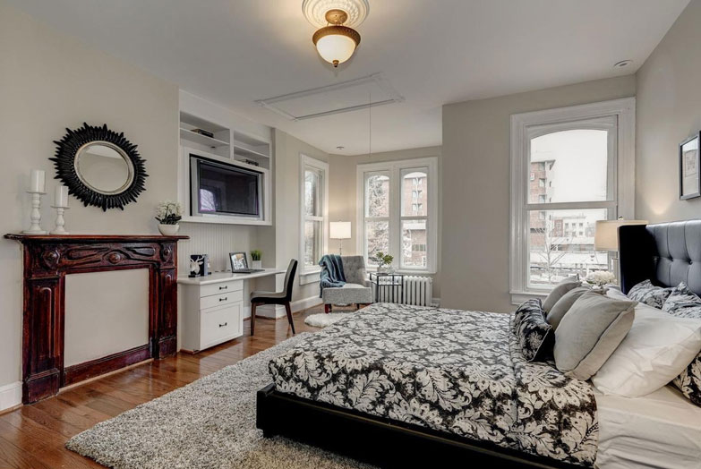 Washington DC bedroom transformed with home staging