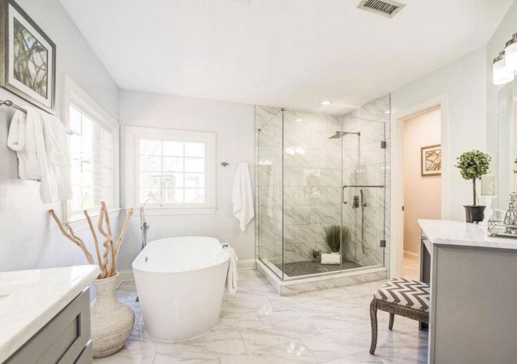 Chevy Chase Maryland Master Bath Transformed