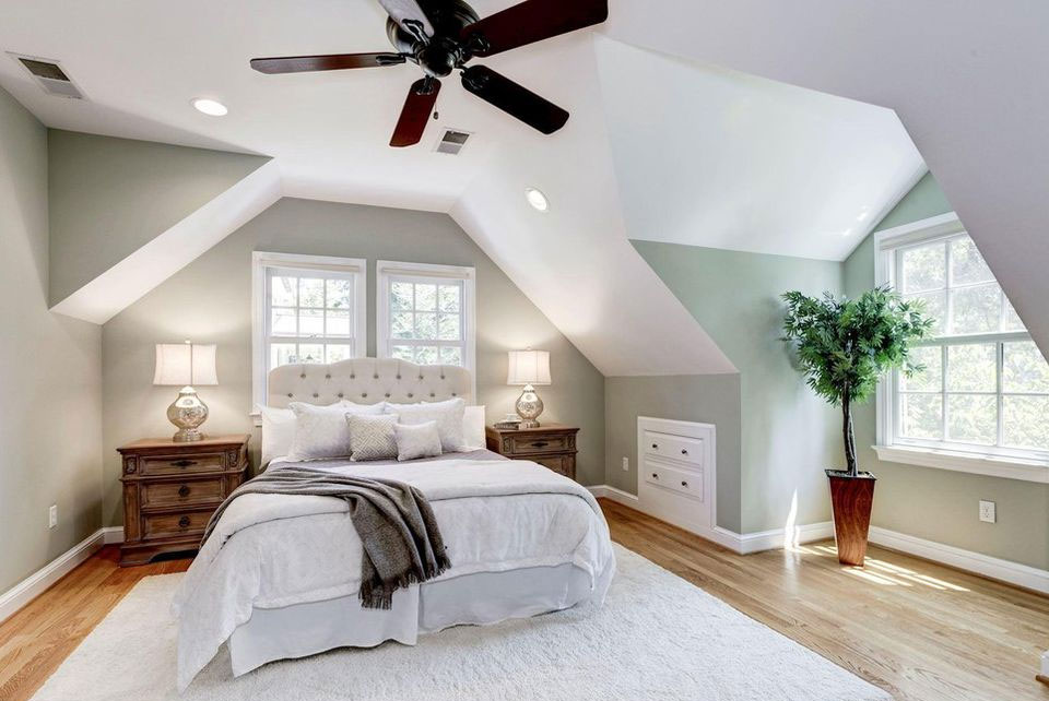 Chevy Chase Maryland loft master bedroom