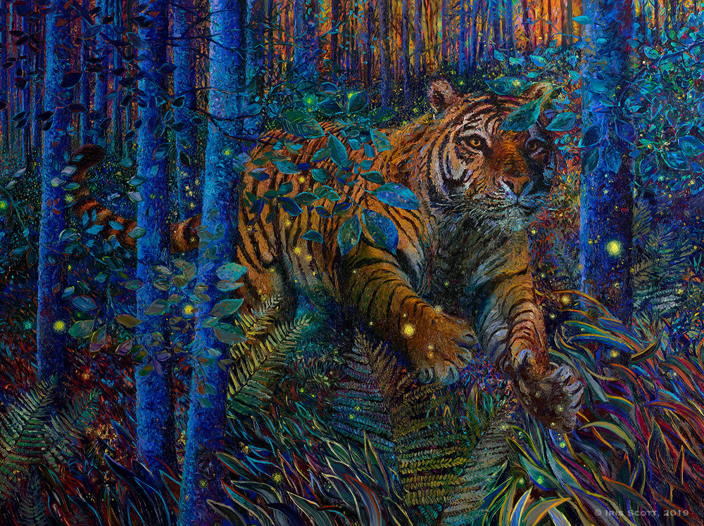 Tiger Fire   96x72in   2019
