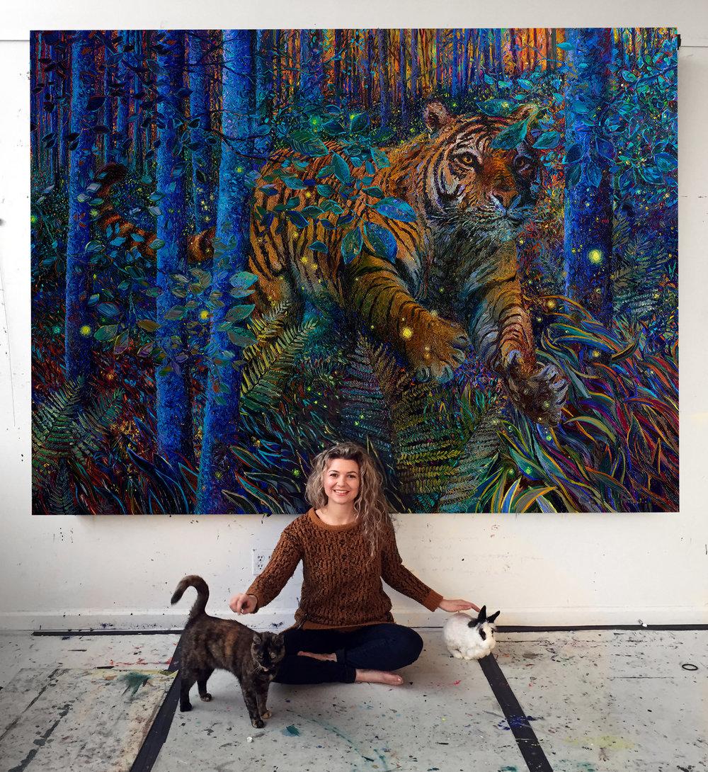 Iris Scott | Tiger Fire | Foxy the cat | Batman the bunny