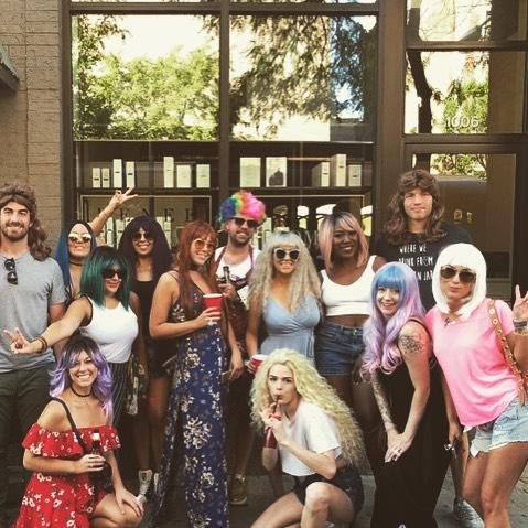 On sundays we wear wigs . . . . . #wigs #birthday #party #salon #wigginout #happybirthday #twerk #sunmeroflove #trolley #party #living #chicago #sundayfunday #crew