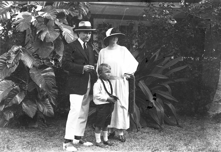 Upon arrival to Honolulu in late 1923.