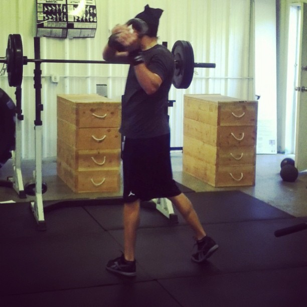 R. Kram- grinding out the morning sesh.press, wall walks, rope slams and #kbcrosschops