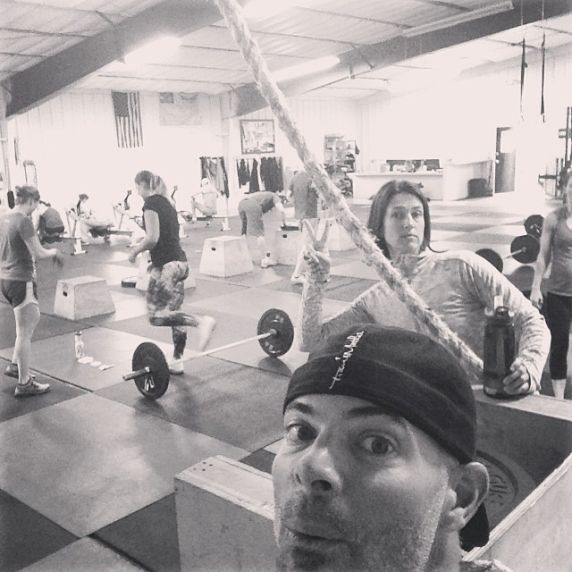 Beautiful 'rainy' morning.  This gym inspires me to be better every day. #cvsc #friends #family gym selfie #gelfie @jamers07