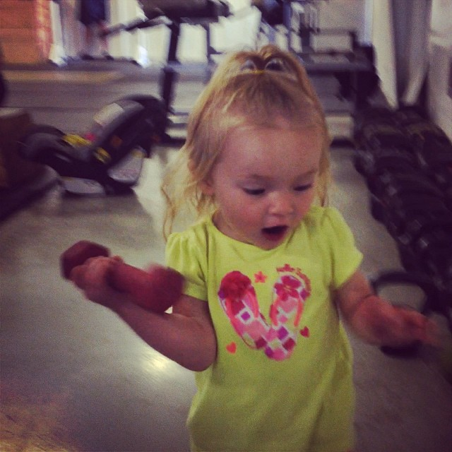 This little one loves her workouts!! Burpees, squats and stacking weights :) #cvsc #cvscyoungsters  @ckchlarson