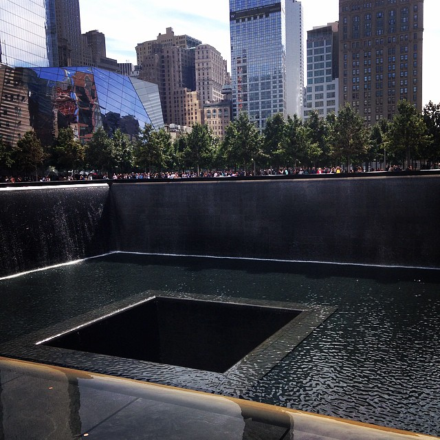 What a moving and emotional experience. #neverforget #groundzero